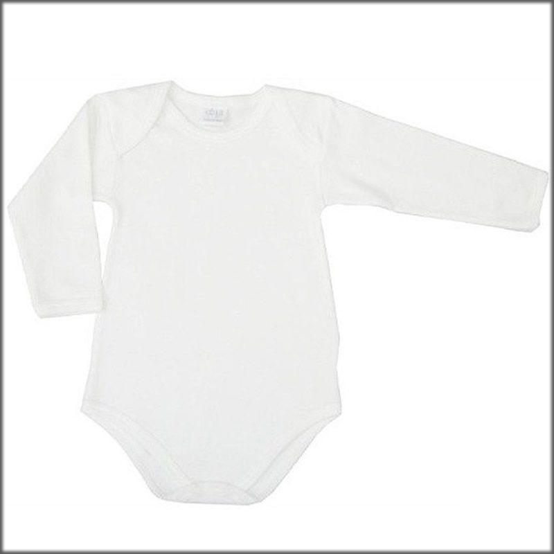 body neonato ellepi in 100/%cotone fresco colore bianco confezione 6pezzi