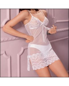 BABY DOLL PIZZO E TULLE FROU FROU 809+8073  LEILIEVE
