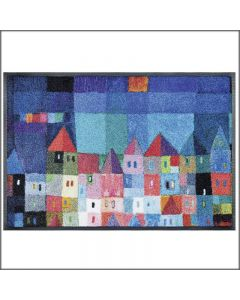TAPPETO COLOURFUL HOUSES WASH AND DRY KLEEN TEX