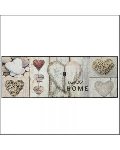 TAPPETO VINTAGE HEARTS 75*190cm WASH AND DRY