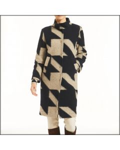 CAPPOTTO COLLO ALTO CON BOTTONI D652KF DONNA RAGNO