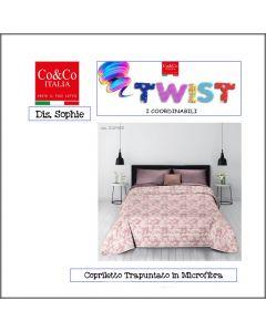 COPRILETTO TRAPUNTATO TWIST SOPHIE MATRIMONIALE CO&CO